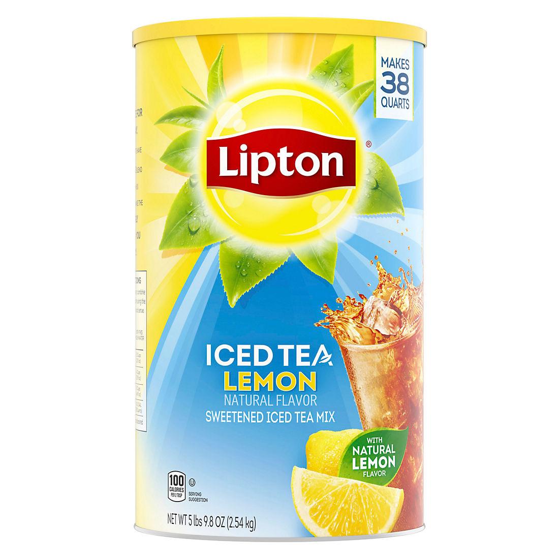 Lipton Lemon Iced Tea Mix 38 Qt Bjs Wholesale Club