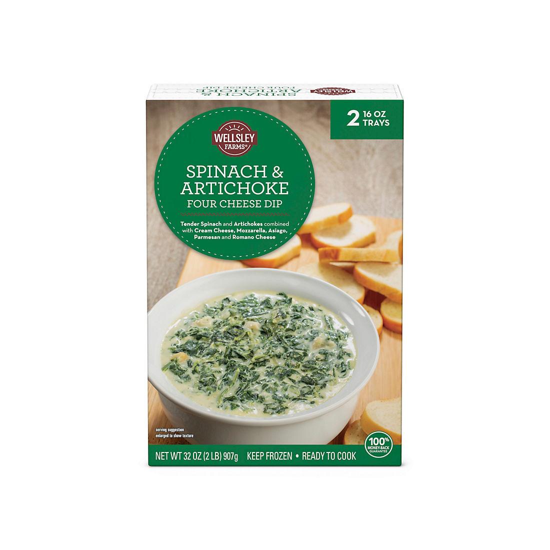 Wellsley Farms Spinach And Artichoke Four Cheese Dip Bjs Wholesale Club
