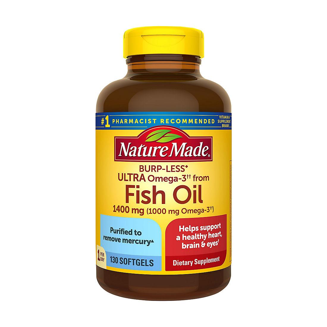 Nature Made 1 400mg Ultra Omega 3 Fish Oil Bjs Wholesale Club