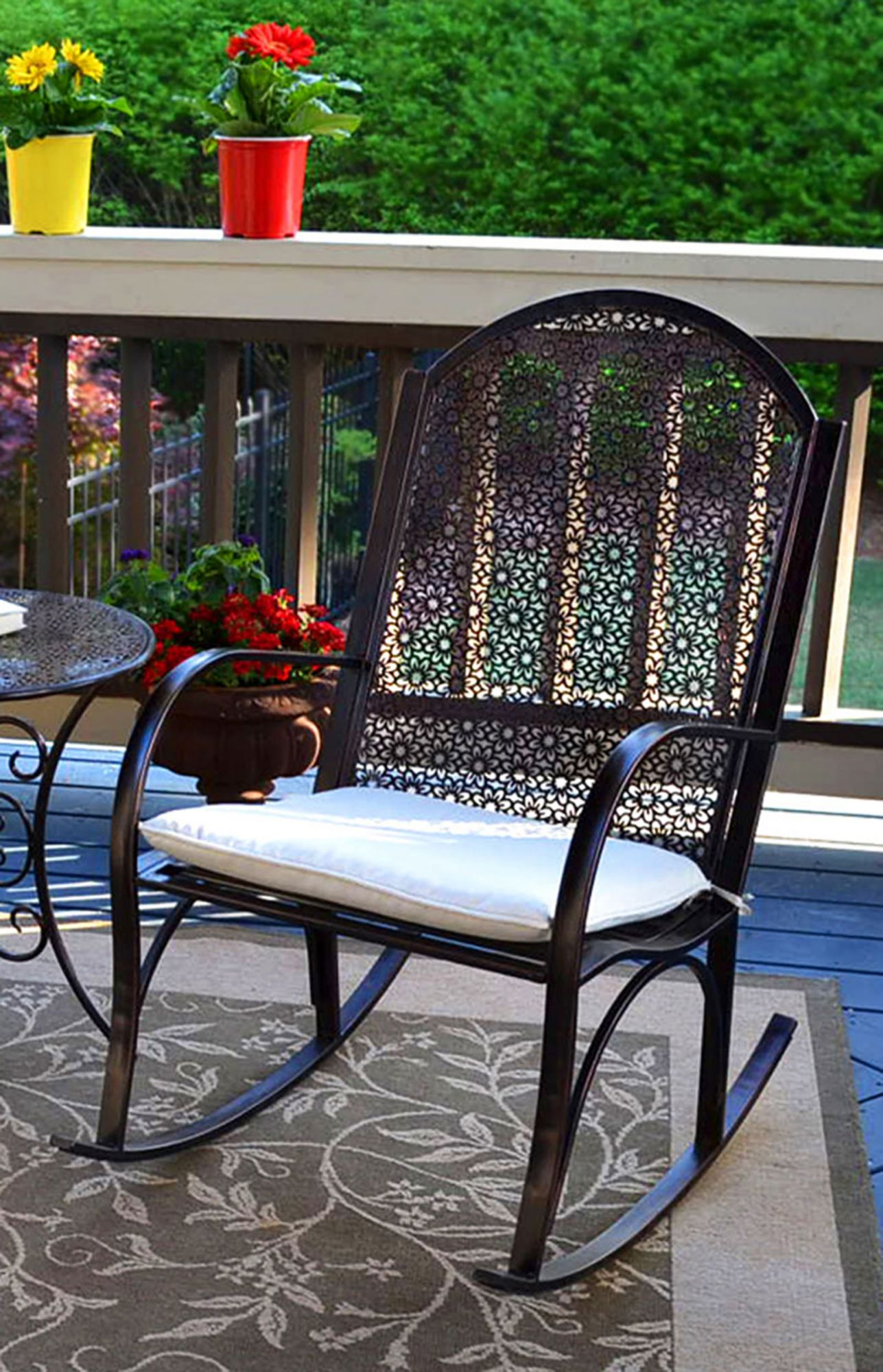 Picture of: Tortuga Outdoor Garden Rocking Chair Black Bjs Wholesale Club