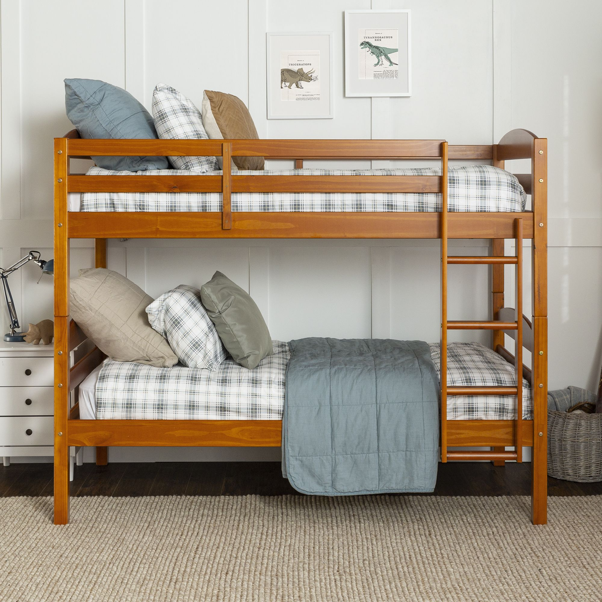 Picture of: W Trends Twin Size Bunk Bed Honey Bjs Wholesale Club