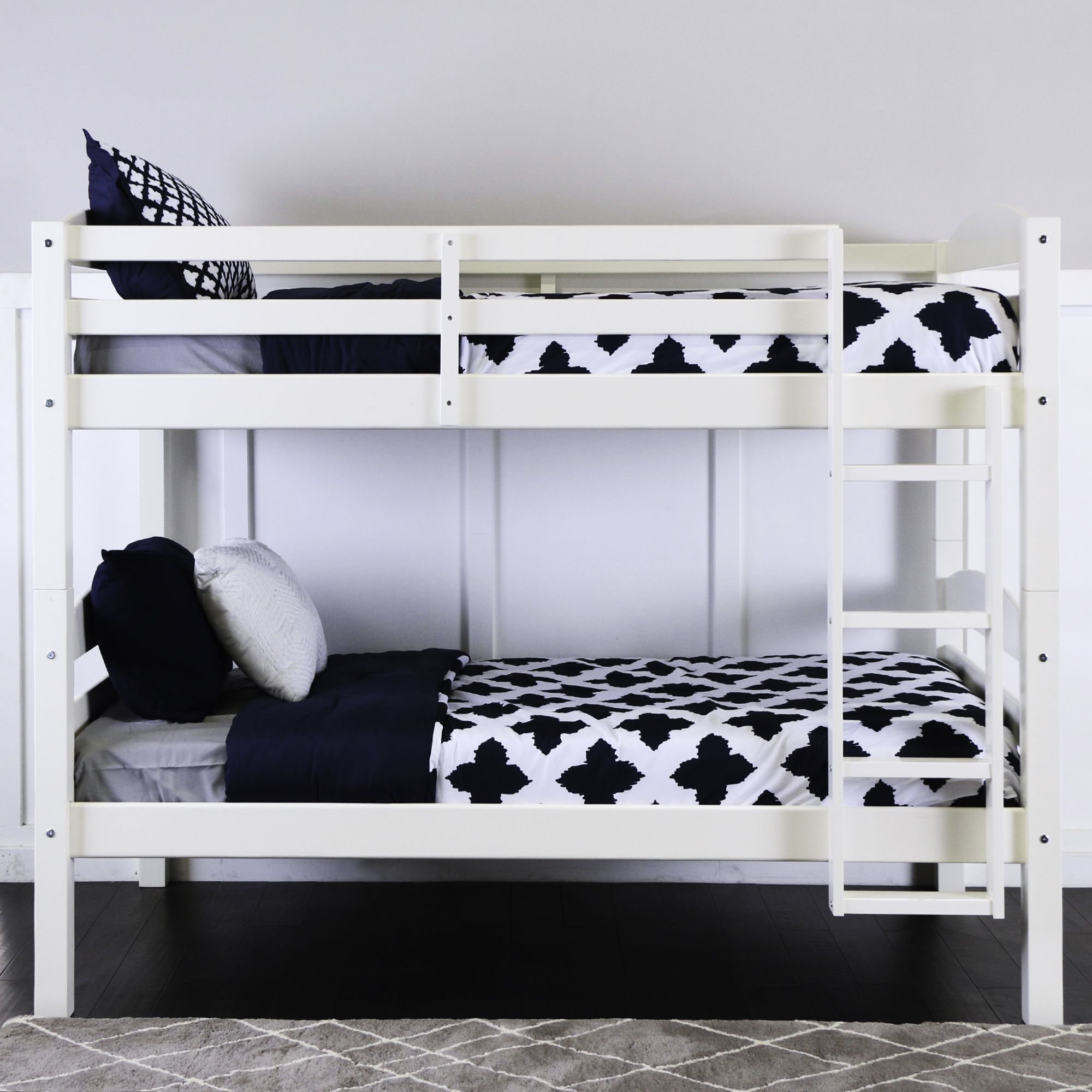 W Trends Twin Size Bunk Bed White Bjs Wholesale Club