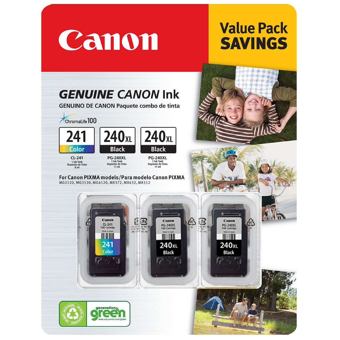 Canon PG-240XL Office Products FINE Cartridge Ink 2-PACK