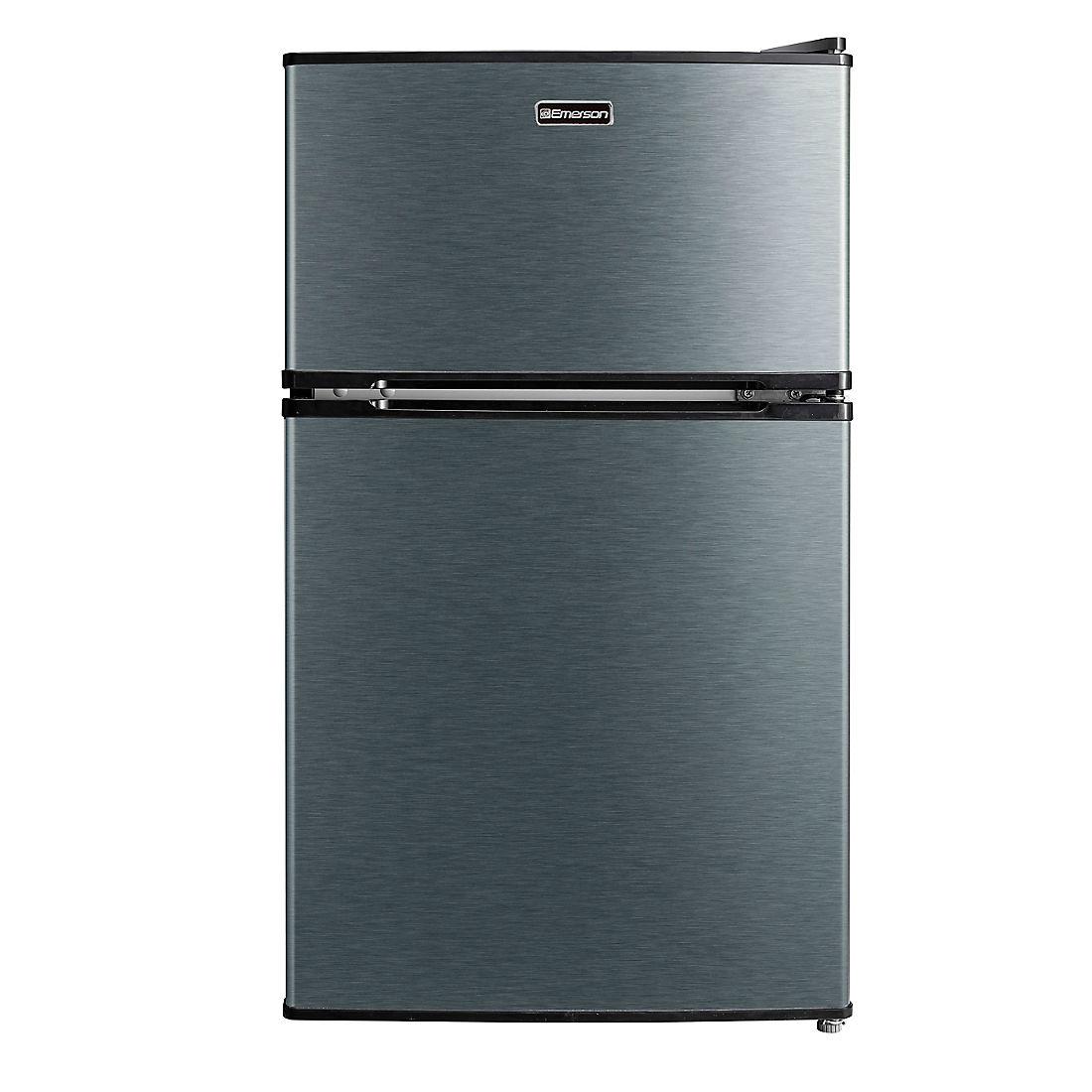 Emerson 3 1 Cu Ft 2 Door Stainless Refrigerator Freezer Bjs Wholesale Club