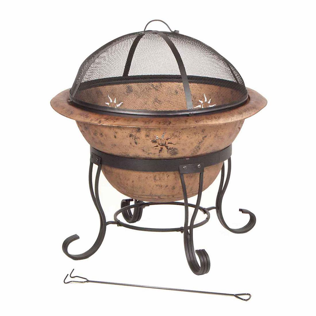 Deckmate Soleil 29 Steel Fire Bowl Antique Copper Bjs Wholesale Club