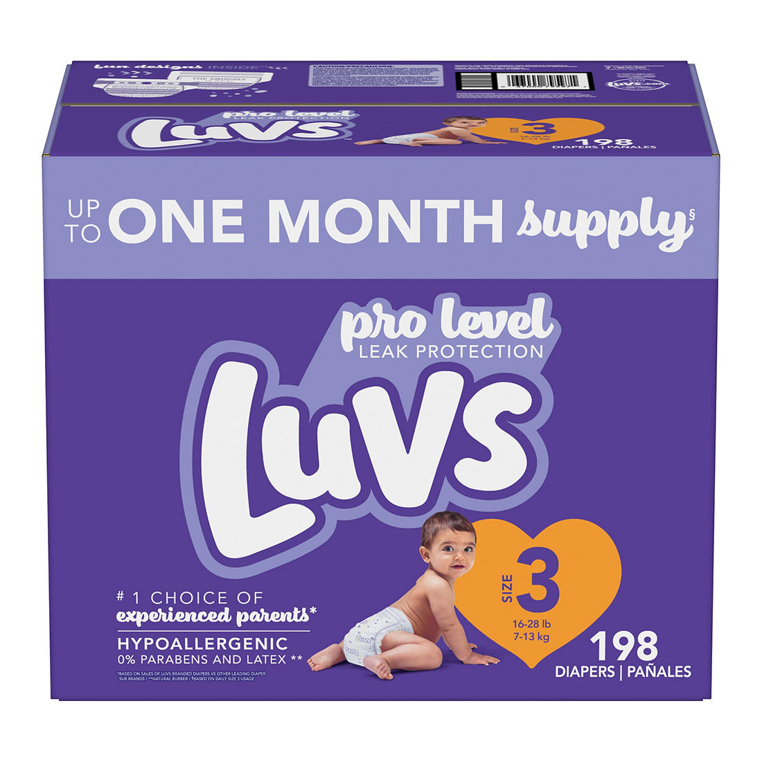864 Count Diapers Size 2 Luvs Ultra Leakguards Disposable Diapers 228 Count ONE MONTH SUPPLY with Baby Wipes 12X Pop-Top Packs