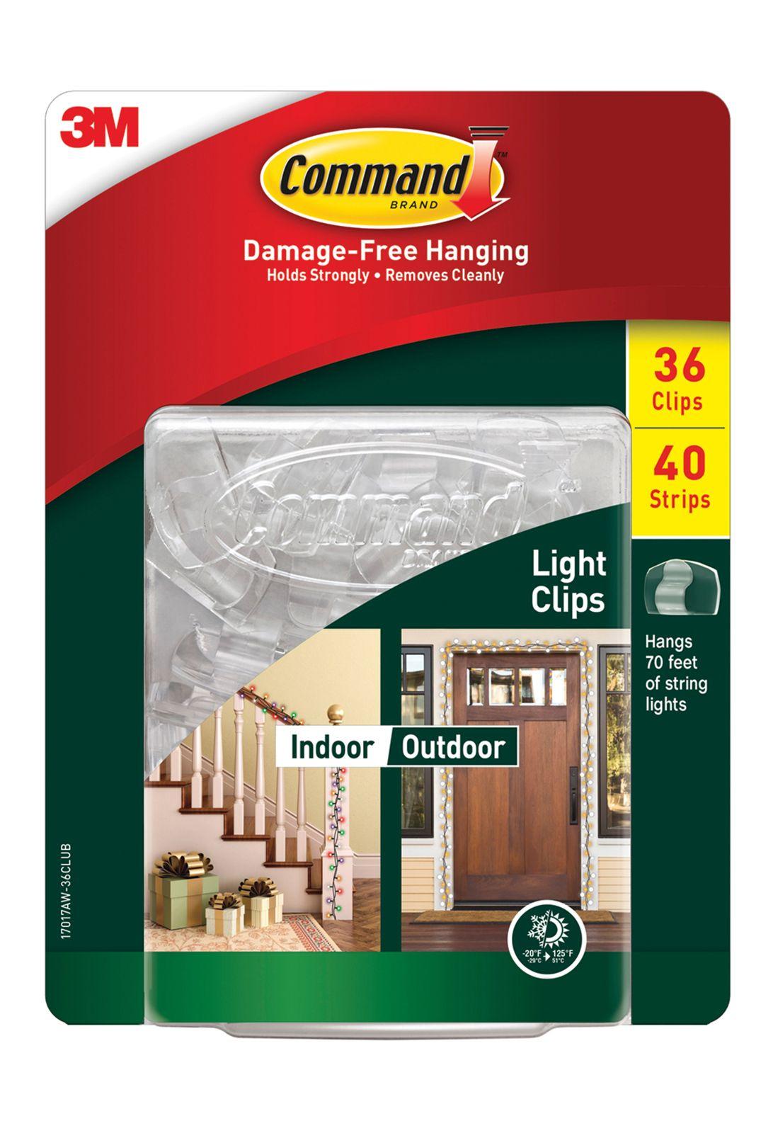 Command Indoor Outdoor Light Clips Bjs Wholesale Club