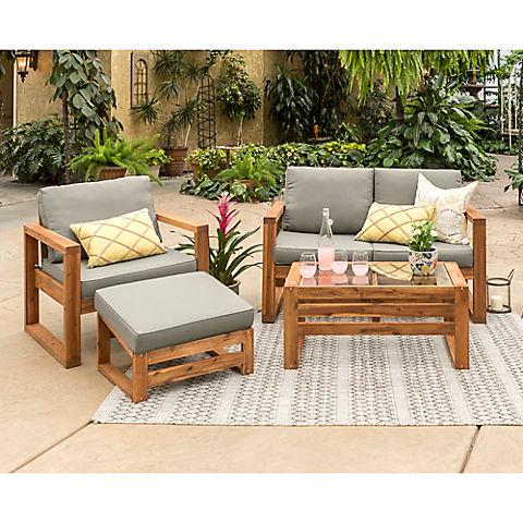 W Trends 4 Pc Outdoor Arbor Acacia, Bjs Patio Furniture