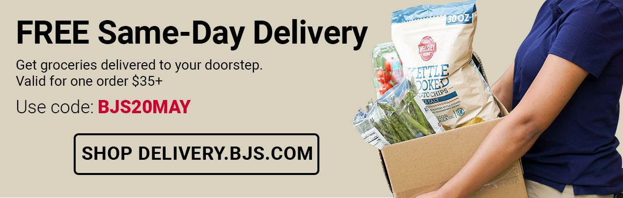 Same day delivery. Get fresh groceries delivered to your doorstep at in Club prices you'll love - shop delivery.bjs.com