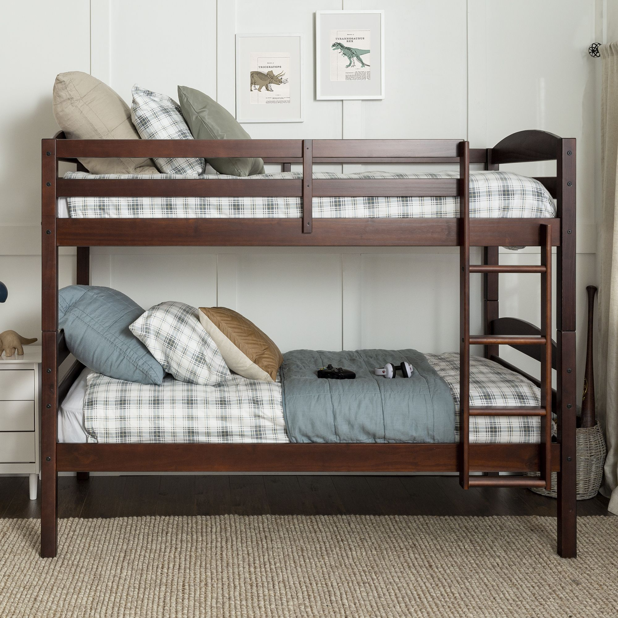 Picture of: W Trends Twin Size Solid Wood Bunk Bed Espresso Bjs Wholesale Club
