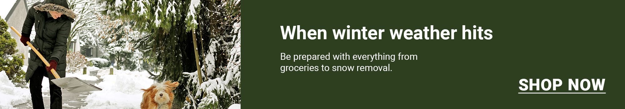 Snow stoppers. When winter weather hits, be prepared with everything you need for snow removal. Click here to shop now.