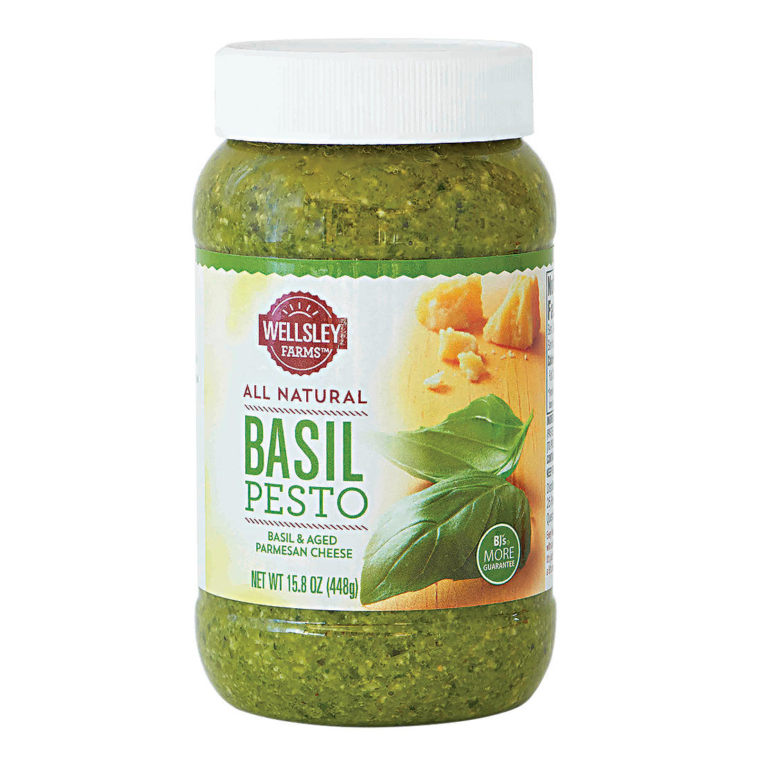 Wellsley Farms All Natural Basil Pesto 15 8 Oz Bjs Wholesale Club