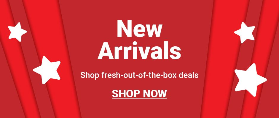 New arrivals. Shop fresh out of the box deals. Click to shop now.