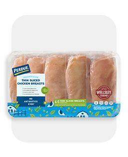 Meat, showing Perdue chicken breasks