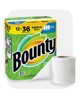 Paper products, showing Bounty