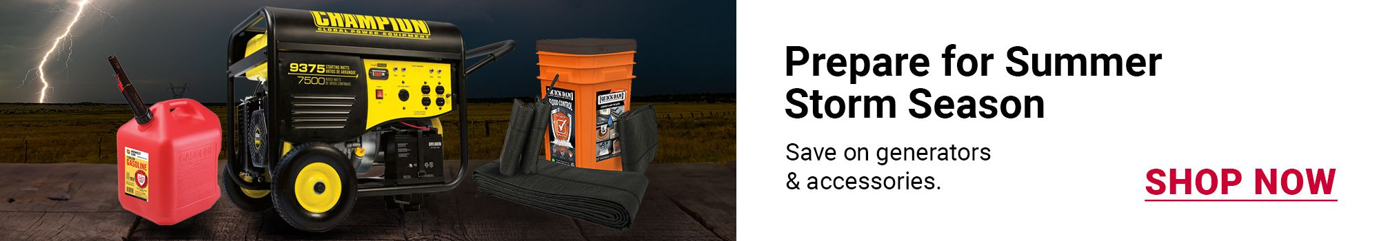 Prepare for any storm. Save $5 with coupon when you buy any 2 Duracell Batteries. Click to SHOP NOW.