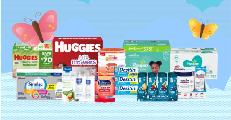 assortment of baby products