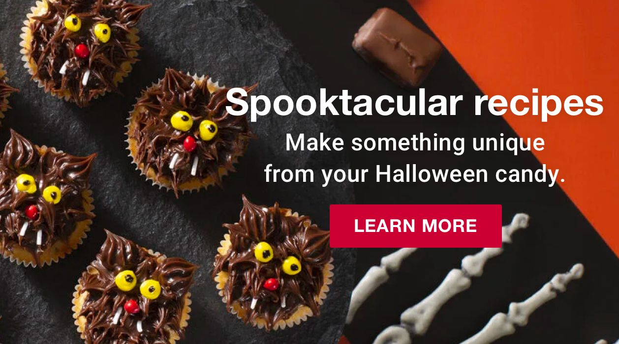 Spooktacular recipes. Make something unique from your Halloween candy. Click to learn more