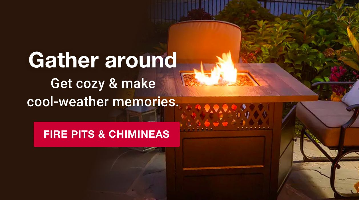 Gather around. Get cozy and make cool-weather memories. Shop fire pits and chimineas