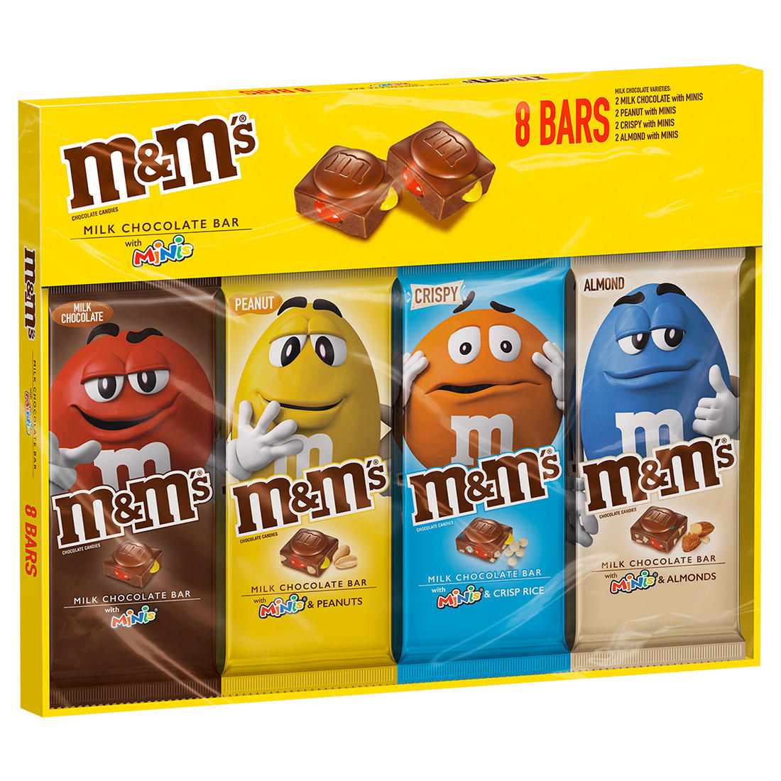 M M S Chocolate Candy Bars With Minis Variety Box 8 Ct Bjs Wholesale Club