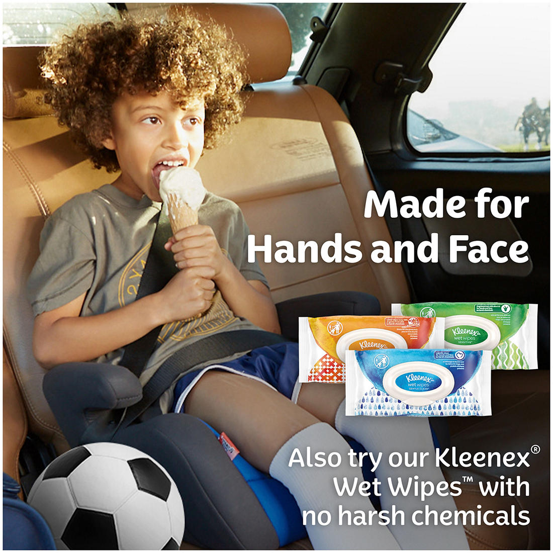 144 tissues, 12 pk. Flat Boxes Kleenex Trusted Care Everyday Facial Tissues