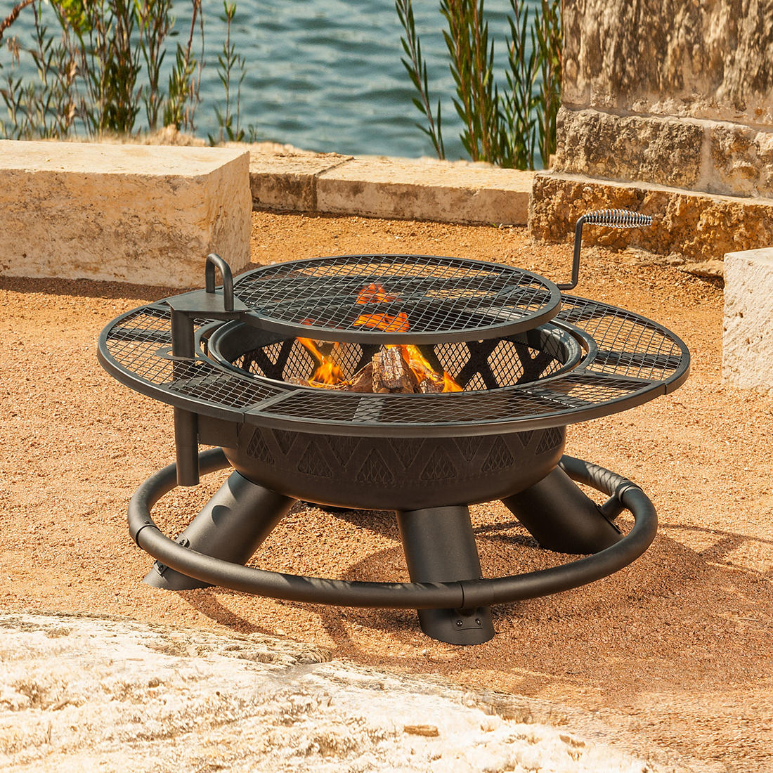 Big Horn 47 Wood Burning Ranch Fire Pit Bjs Wholesale Club