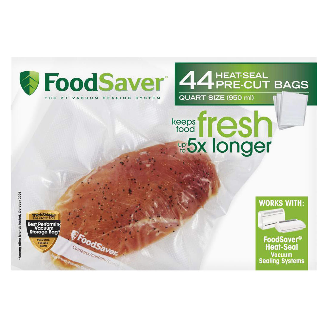 Foodsaver Quart Size Vacuum Storage Bags 44 Ct Bjs Wholesale Club