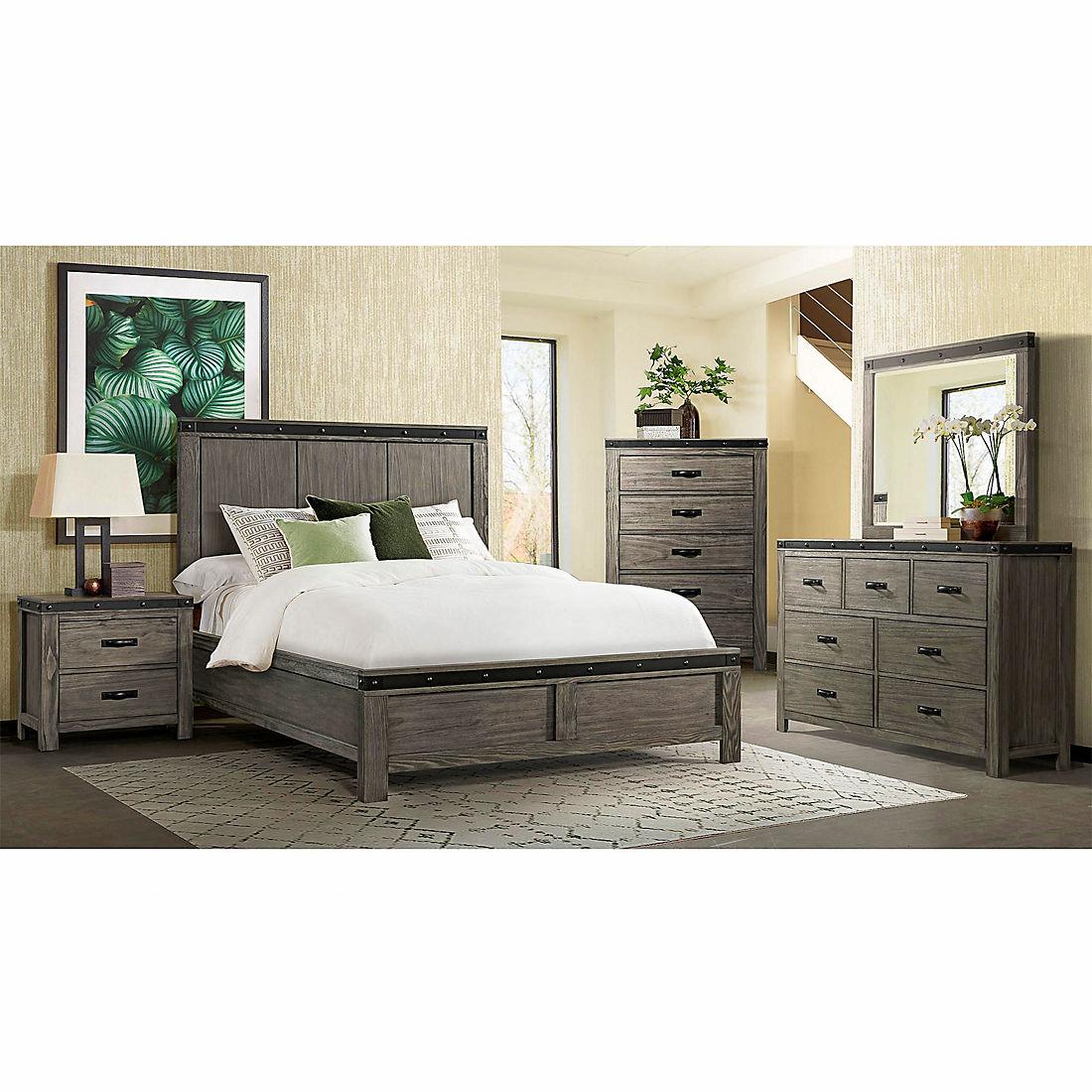 Sullivan 5 Pc Queen Size Panel Bedroom Set Gray Bjs Wholesale Club