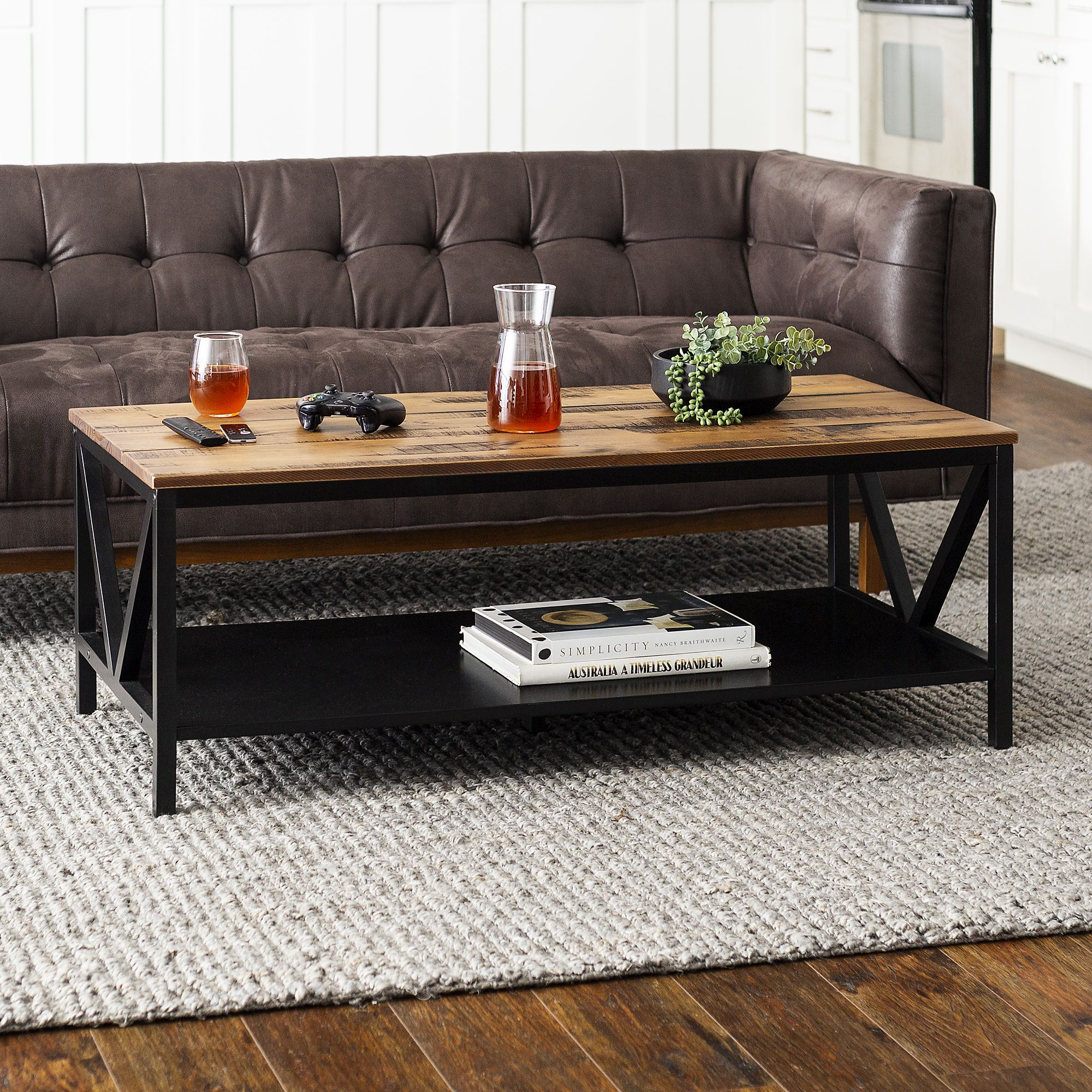 Picture of: Distressed Farmhouse Solid Wood Coffee Table 48 Bjs Wholesale Club