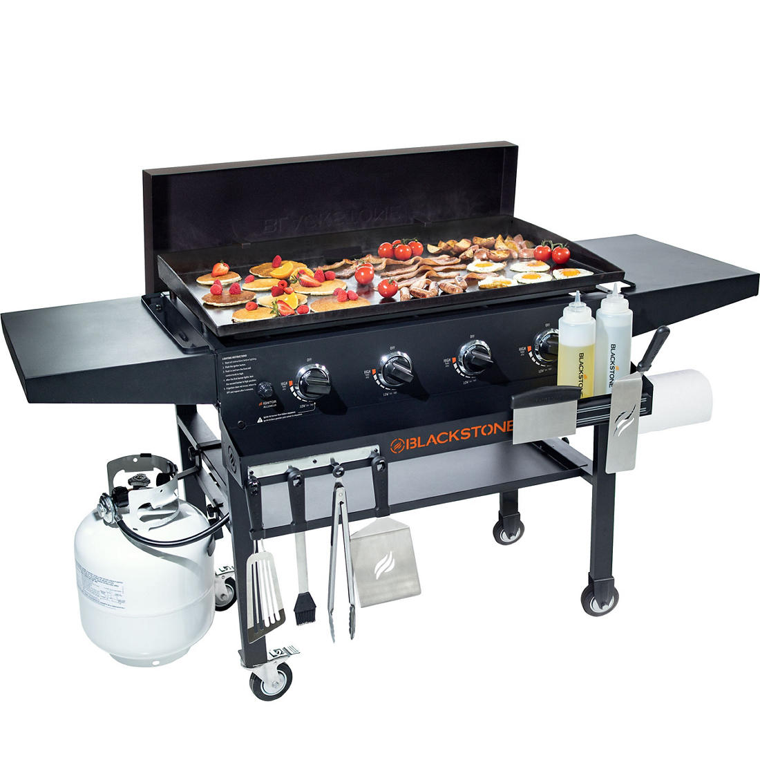 Blackstone 36 Gas Griddle With Hard Cover And Front Shelf Bjs Wholesale Club