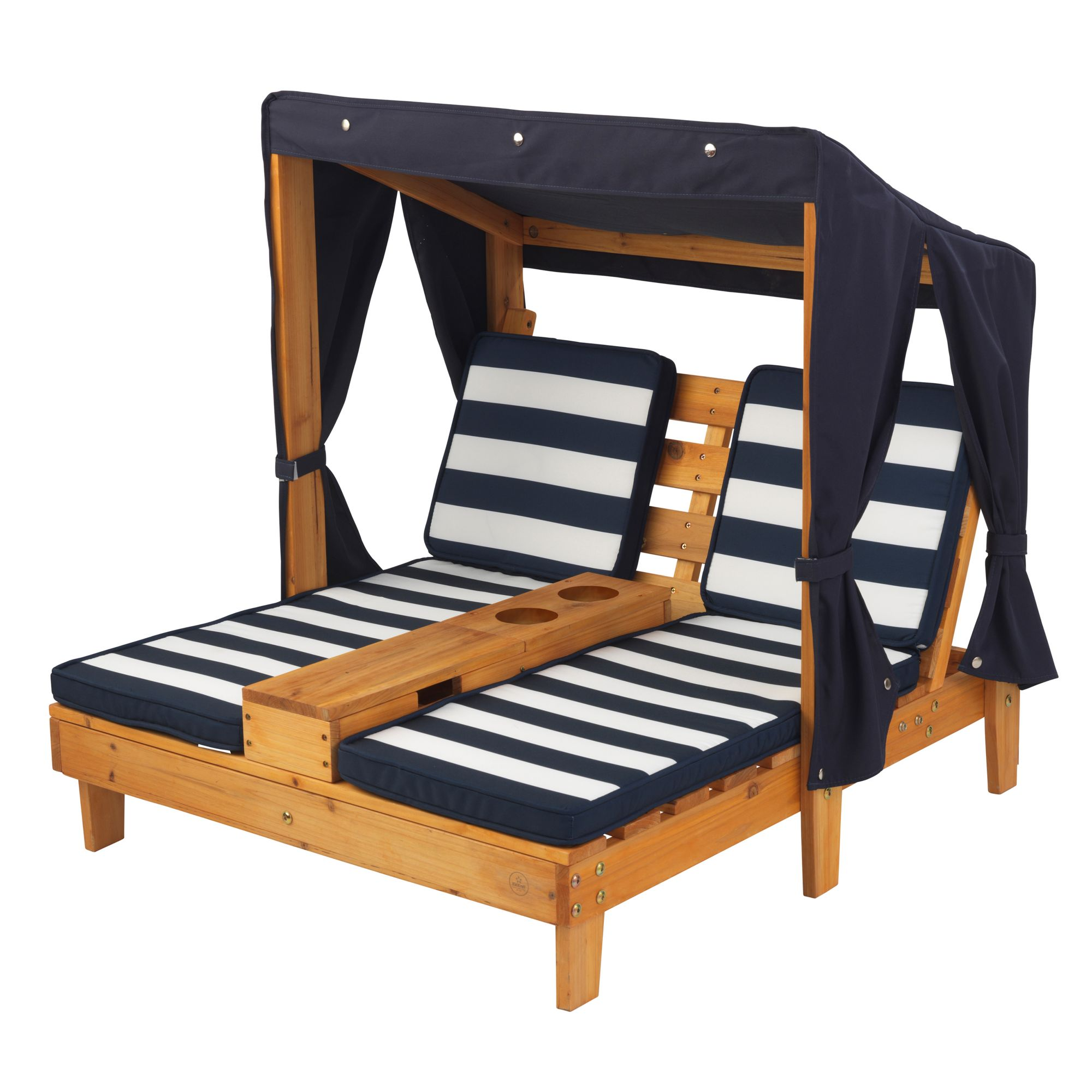 Picture of: Kidkraft Double Chaise Lounge With Canopy And Cupholder Bjs Wholesale Club