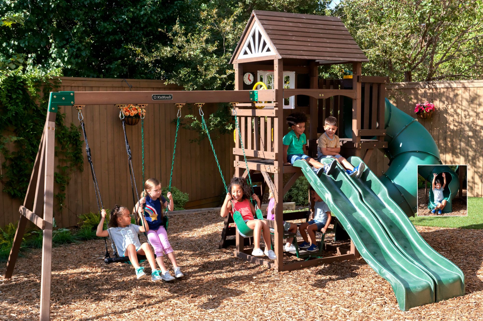 Image of: Kidkraft Portland Playset And Swing Set Bjs Wholesale Club