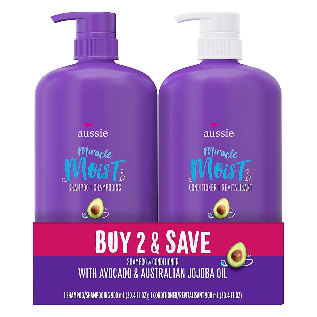 Aussie Miracle Moist with Avocado & Jojoba Oil, Shampoo and