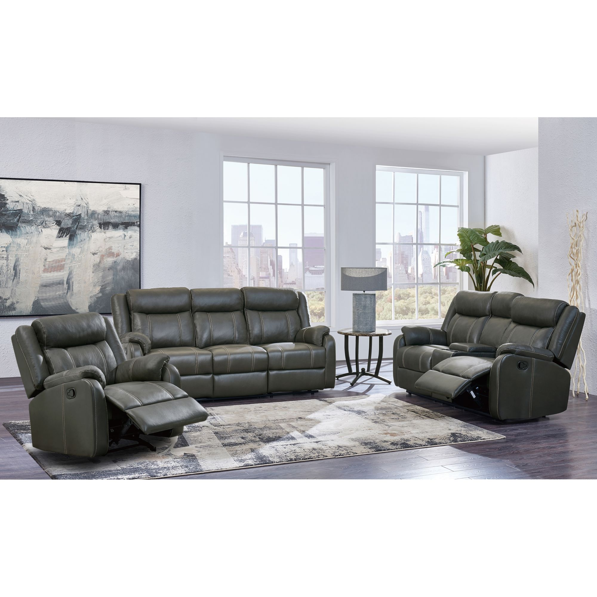 Carson 3 Pc Reclining Living Room Set Gray Bjs Wholesale Club