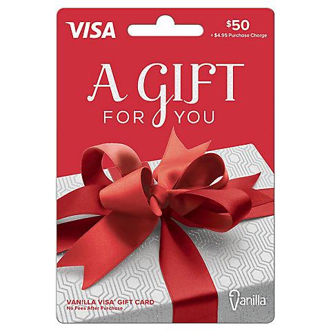 Vanilla Visa 50 Prepaid Gift Card Bjs Wholesale Club