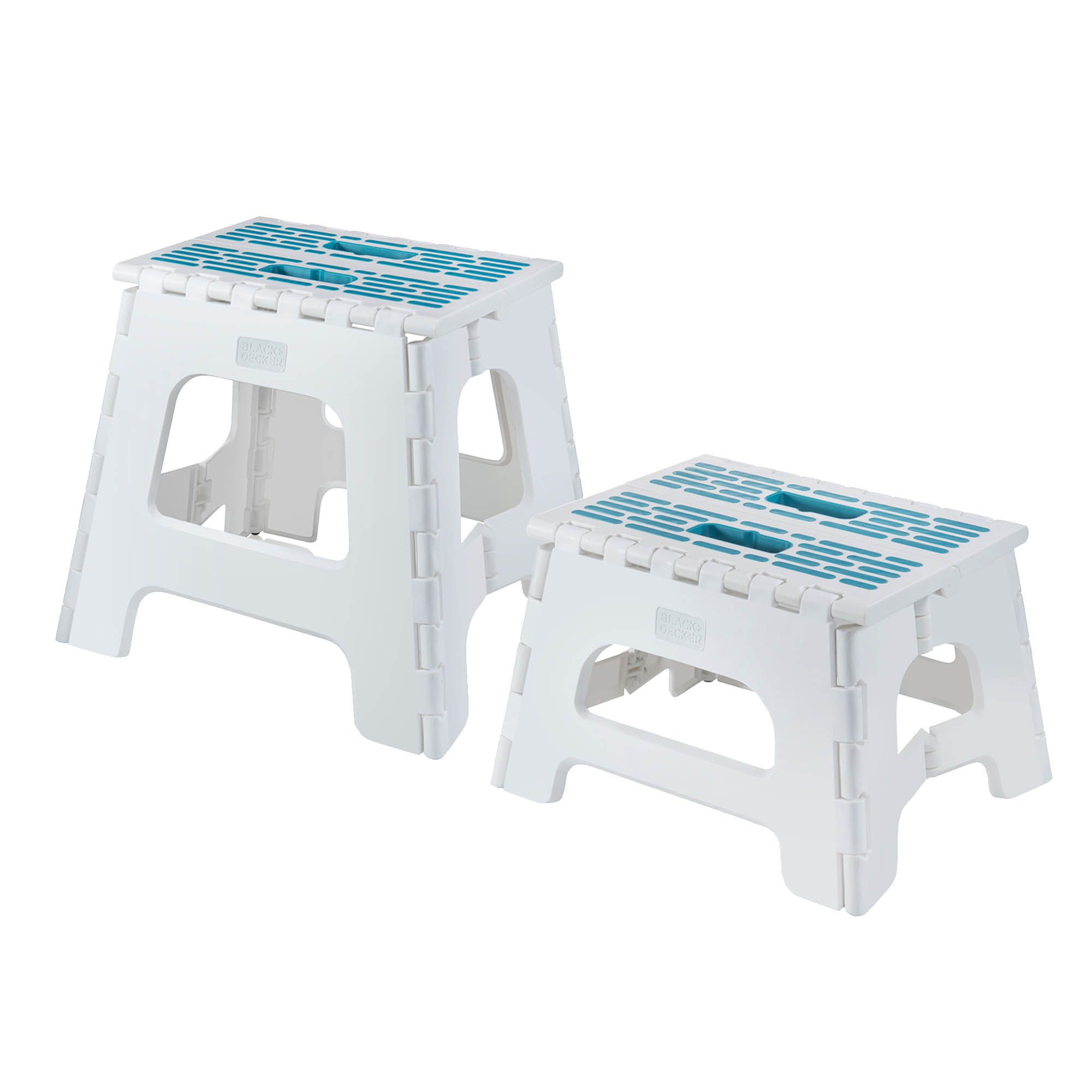 Black And Decker Folding Stool Lightweight Step Stool Heavy Duty Kitchen Step Stool With Handle Anti Skid Gray Teal 13 Home Kitchen Folding Stools