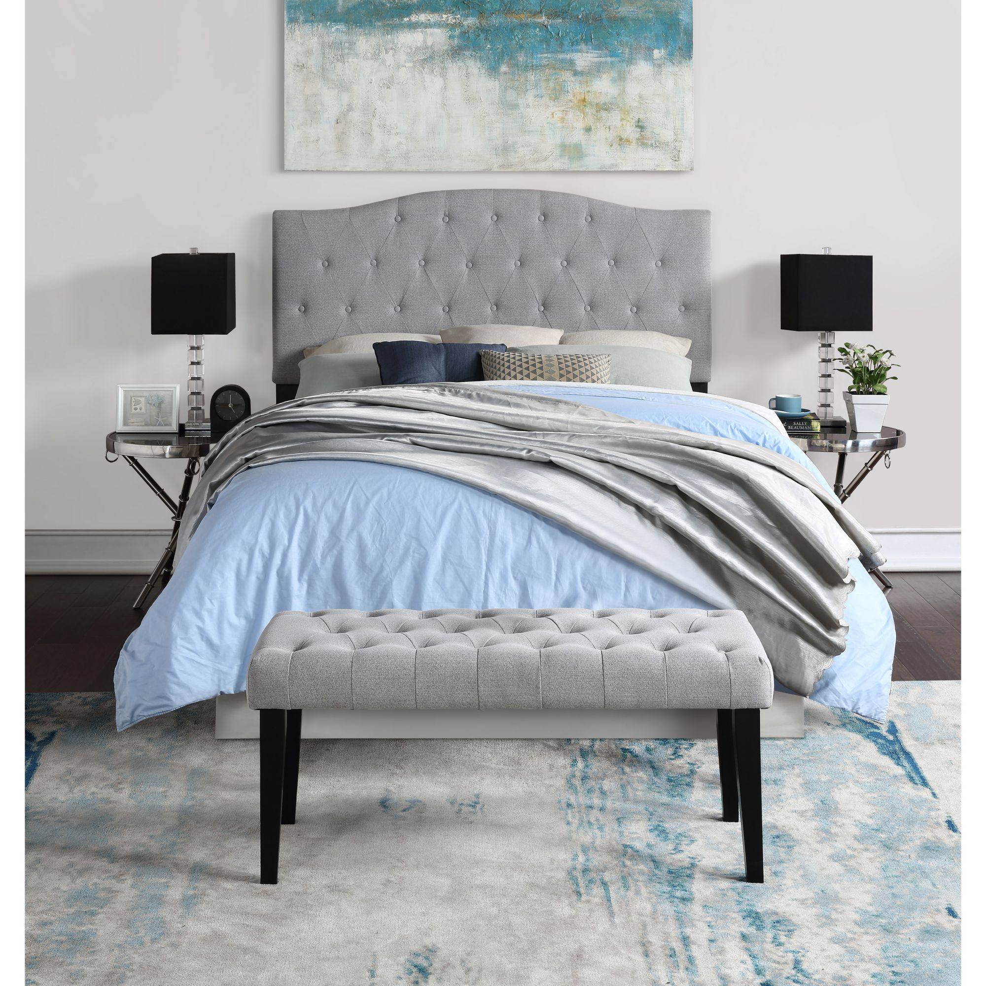 Image of: Northridge Home Queen Size Upholsteed Headboard And Bench Bjs Wholesale Club