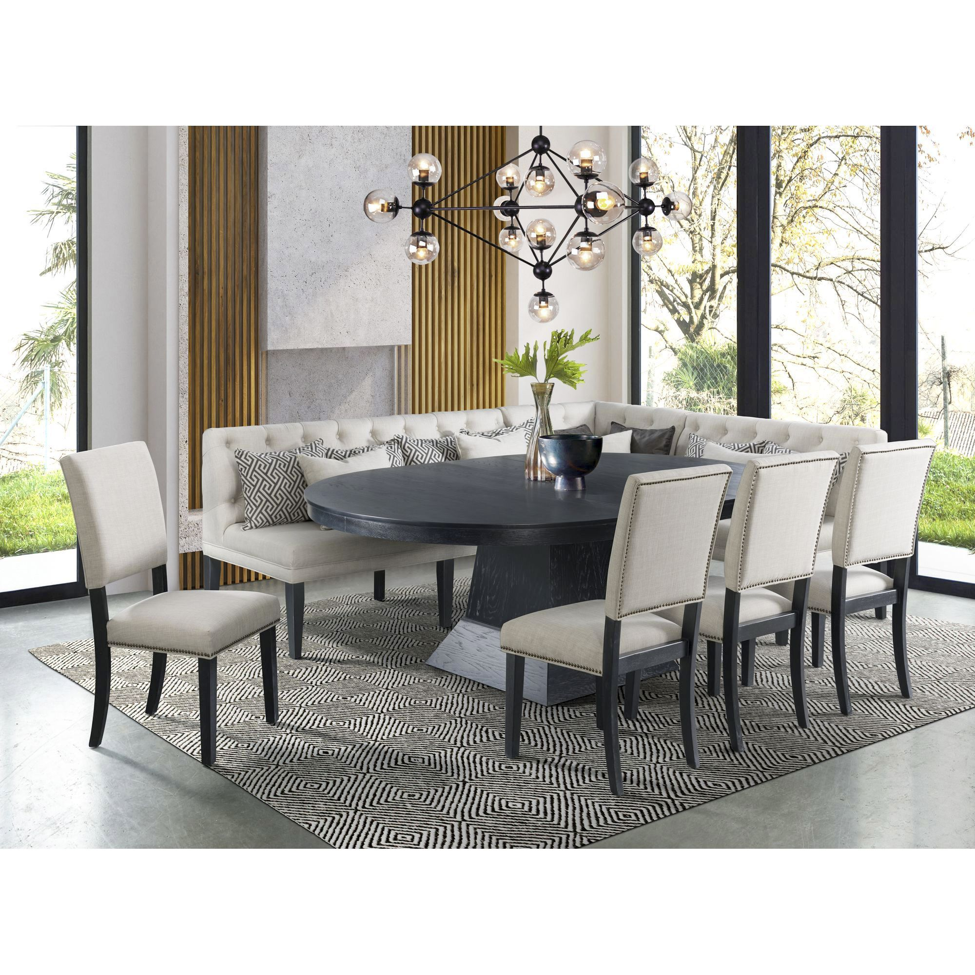 Picket House Dmd1408pc549 Furnishings Mara 8 Pc Dining Set Table Bjs Wholesale Club