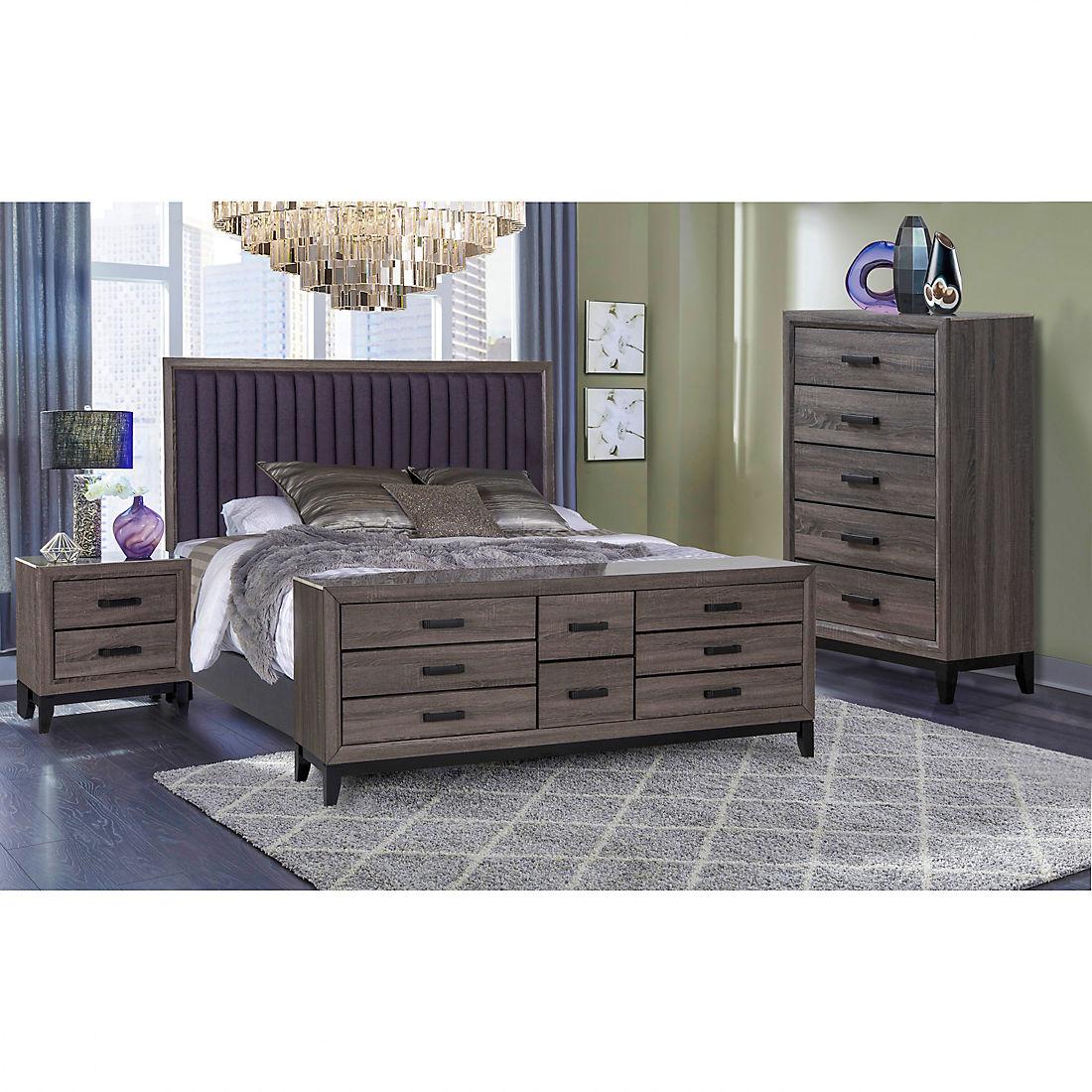 Laura 4 Pc Bedroom Set Beachwood Gray Bjs Wholesale Club