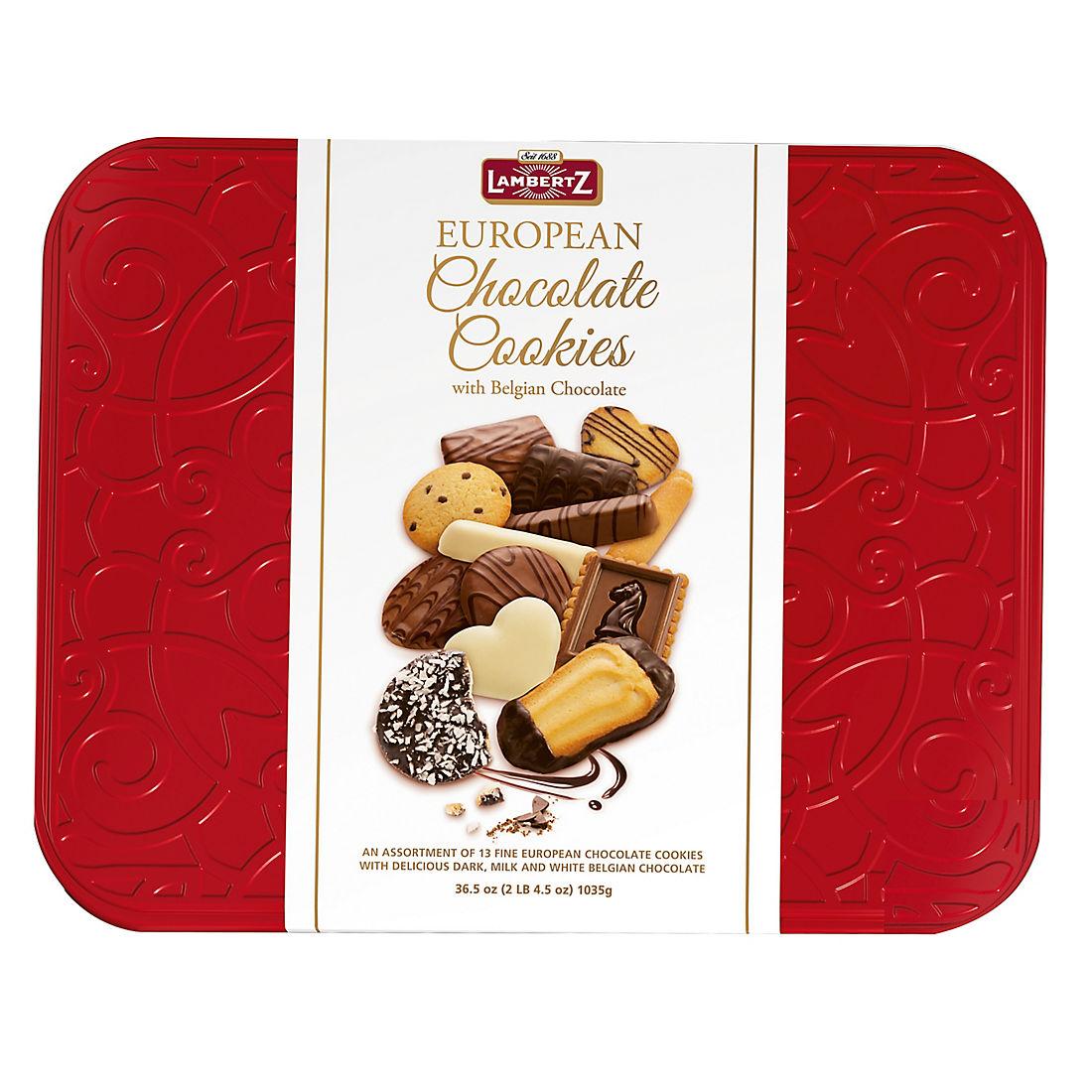 Lambertz European Chocolate Cookies Red Tin Bjs Wholesale Club