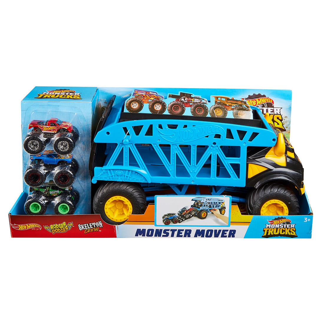 Hot Wheels Monster Truck Monster Mover With 3 Trucks Bundle Bjs Wholesale Club