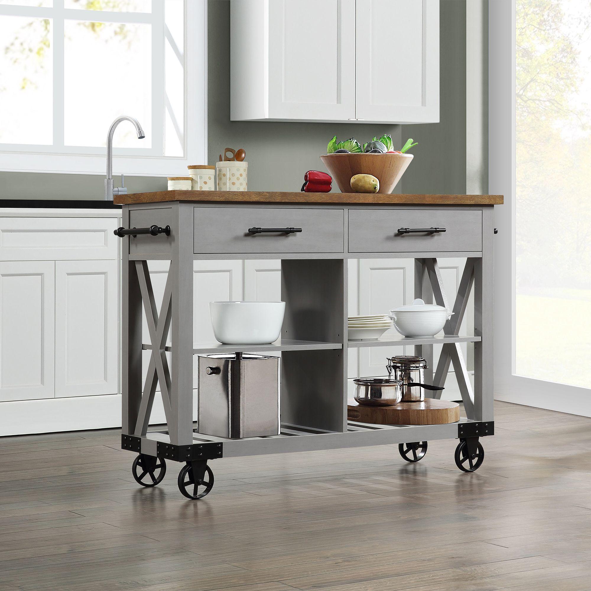 Whalen Modern Farmhouse Kitchen Cart Bjs Wholesale Club