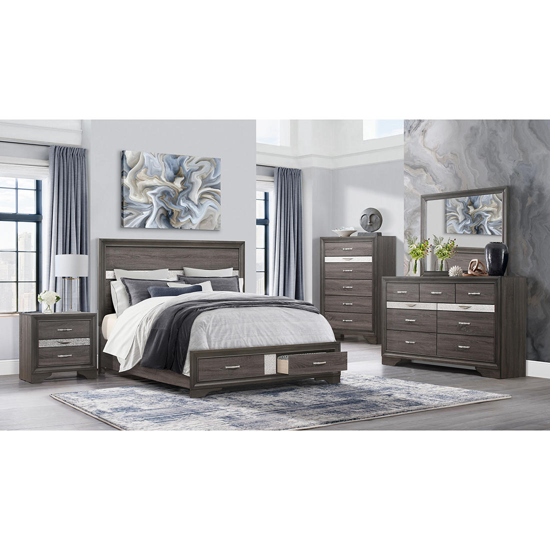 Global Furniture Seville Queen Bedroom Collection With White Glove Delivery Bjs Wholesale Club