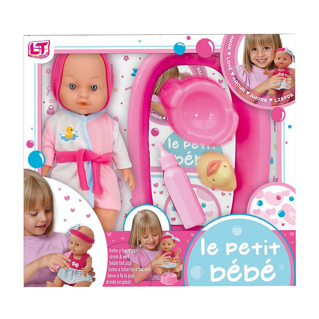 My Sweet Love 9-Piece Bathtub /& Potty Play Set Baby Dolls Pretend Bottle Ducky