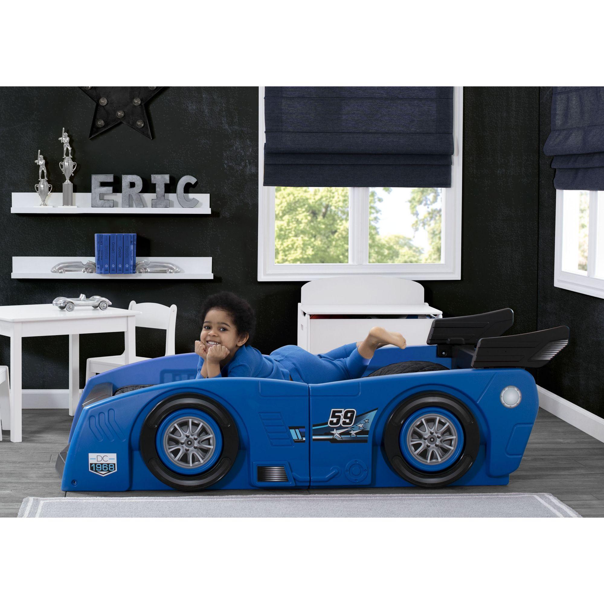 Delta Children Grand Prix Race Car Toddler Twin Bed Blue Bjs Wholesale Club