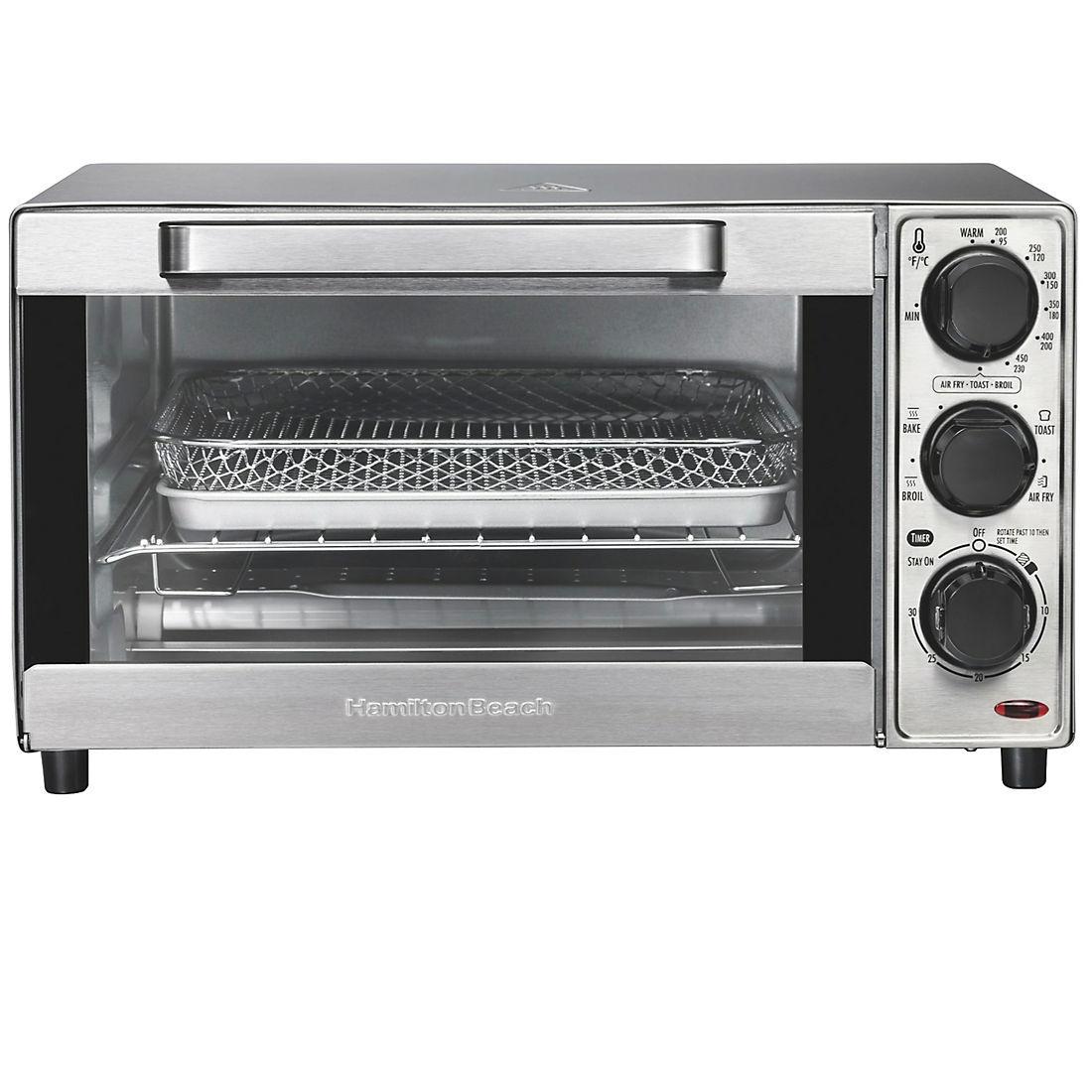 Hamilton Beach Sure Crisp 4 Slice Capacity Air Fryer Toaster Oven Bjs Wholesale Club