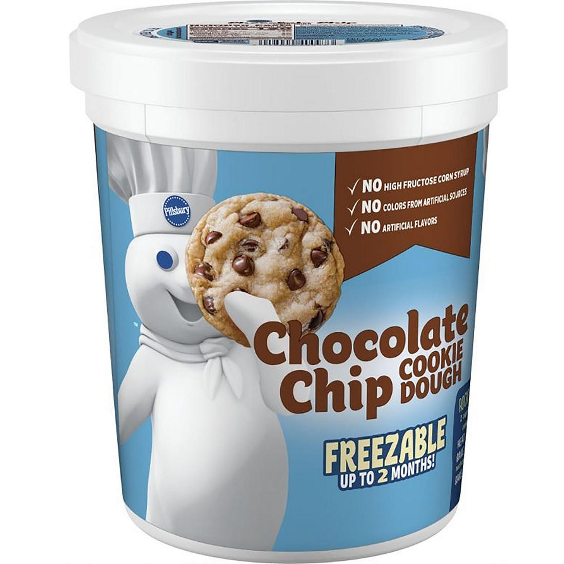 Pillsbury Chocolate Chip Cookie Dough Tub 76 Oz Bjs Wholesale Club
