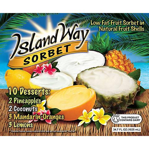 Island Way Low Fat Fruit Sorbet Variety Pack Bjs Wholesale Club