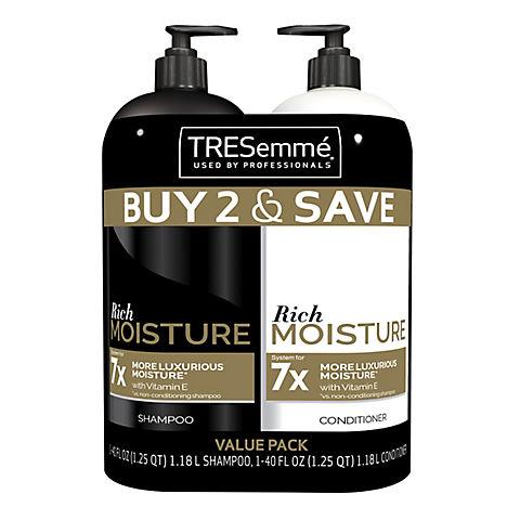 Tresemme Moisture Rich Shampoo And Conditioner 2 Ct 40 Oz Bjs Wholesale Club