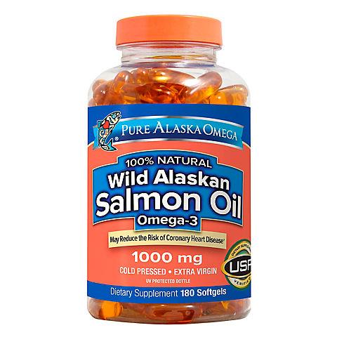 Pure Alaska Omega Wild Salmon Oil 1000mg 180 Ct Bjs Wholesale Club